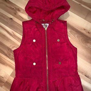 Juicy Couture Puffer Vest Hooded Jacket Medium